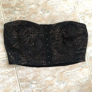 Tops - Snakeskin Cropped Top